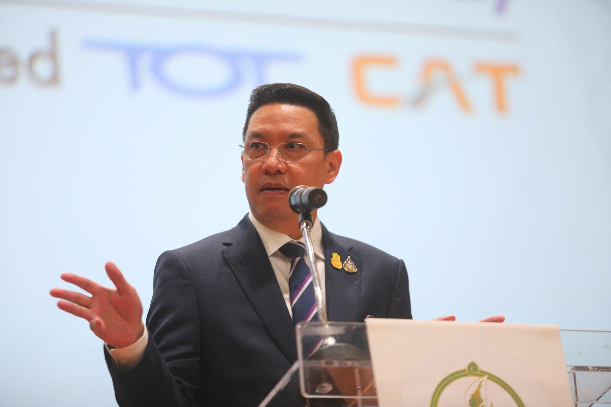พุทธิพงษ์ โวไม่เกินฝัน หนุน 'เอ็นที' ท็อป 3 บริษัทโทรคมฯไทย