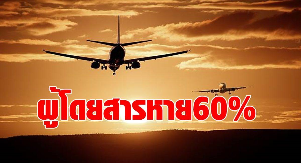 กรมท่าอากาศยาน จ๊ากโควิด 2 ฉุดผู้โดยสารวูบ 60% สายการบินยกเลิกวันละ 30 ไฟลต์