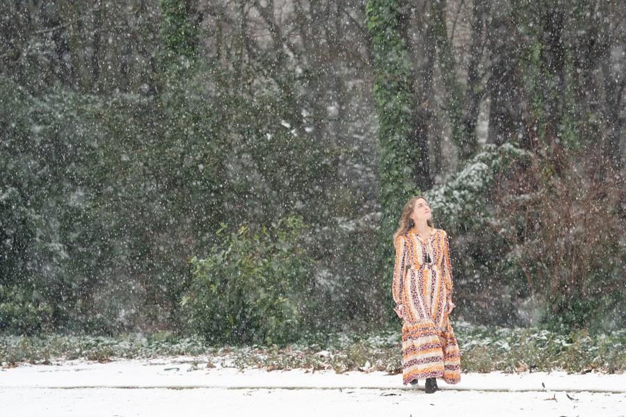 'มาดริด' เย็นฉ่ำหลังหิมะขาวโปรยปราย