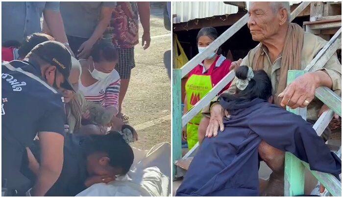ยังไร้ทางออก! ผู้ใหญ่บ้านเร่งช่วย ม. 4 กับตาวัย 87 ที่ตาบอด หลังแม่วัย 52  ขี่รถจยย.ชนกำแพงเสียชีวิต