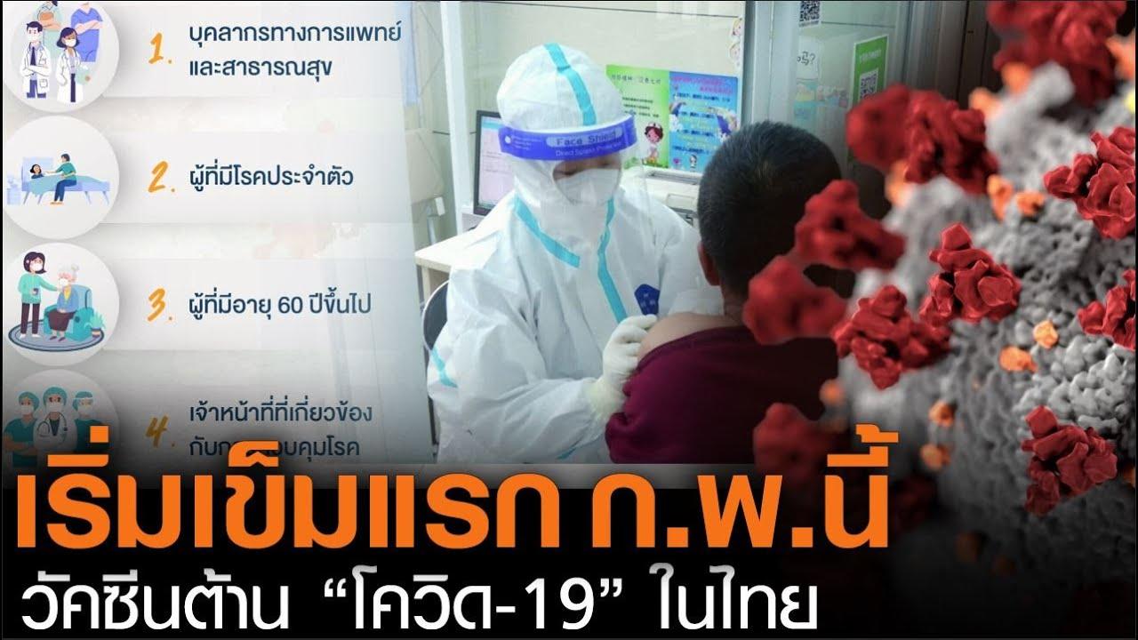 """เริ่มเข็มแรก ก.พ.นี้!!! วัคซีนต้าน """"โควิด-19"""" ในไทย (คลิป)"""