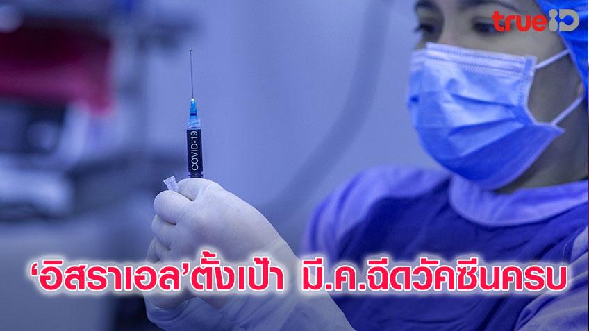 อิสราเอล เตรียมฉีดวัคซีนโควิดข19 ครบทุกคน ภายในเดือน มี.ค.