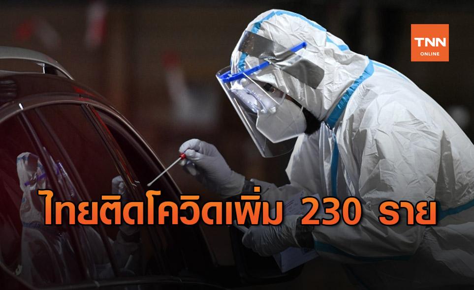 ศบค.เผย ไทยพบผู้ติดเชื้อโควิดเพิ่ม 230 ราย เสียชีวิตเพิ่ม 1 ราย