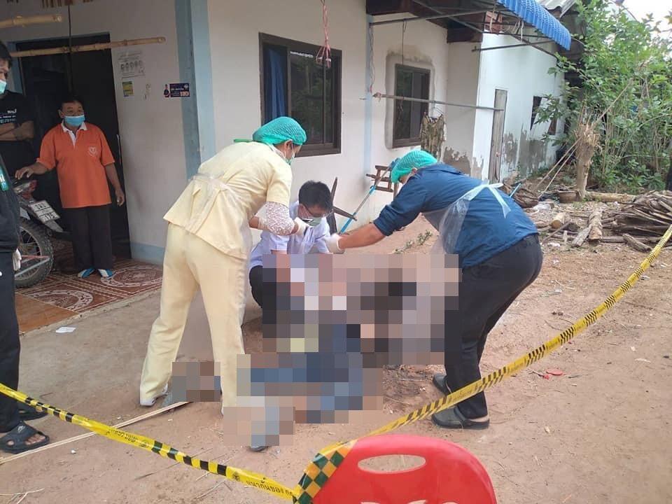 เมียก่อไฟให้ผัวผิงคลายหนาว กลับมาบ้านพบถูกไฟครอกครึ่งตัวดับสลด