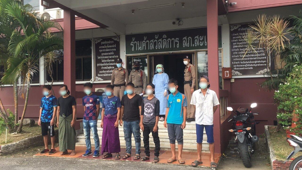 จับ 8 แรงงานเมียนมา หนีข้ามแดนจากมาเลเซีย พบไข้สูง 2 ราย คาดถูกนายหน้าลอยแพ