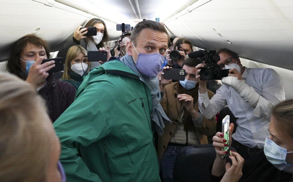 ศัตรูปูตินกลับรัสเซีย เครื่องบินแตะลานบินปุ๊บ นาวัลนีถูกจับปั๊บ