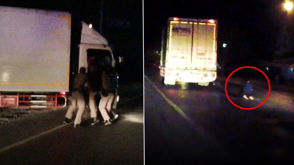 สกัดจับวุ่น! หนุ่ม 23 ขับหกล้อหนี แม่เกาะรถตามถูกลากไปกับถนน เผยปมทะเลาะพ่อ
