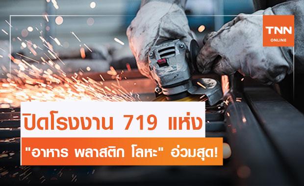 ปี 63 แจ้งปิดโรงงานแล้ว 719 แห่ง กระทบแรงงานเกือบ 3 หมื่นคน