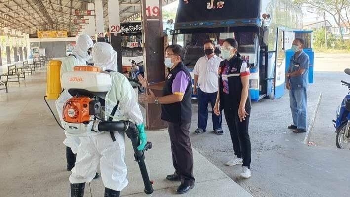 ขนส่งทางบก คุมเข้มการเดินทาง ต้องสแกนไทยชนะ ล้างมือด้วยเจล-แอลกอฮอล์ สวมหน้ากาก