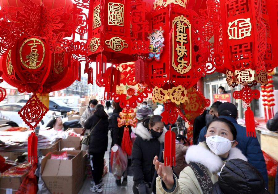 ชาวสือเจียจวงออกชอปปิงต้อนรับ 'ตรุษจีน'
