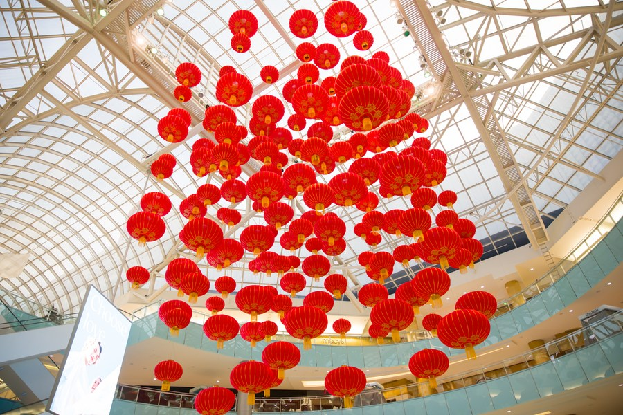 รับตรุษจีน! ห้างในเท็กซัสประดับ 'โคมแดง' นับร้อย