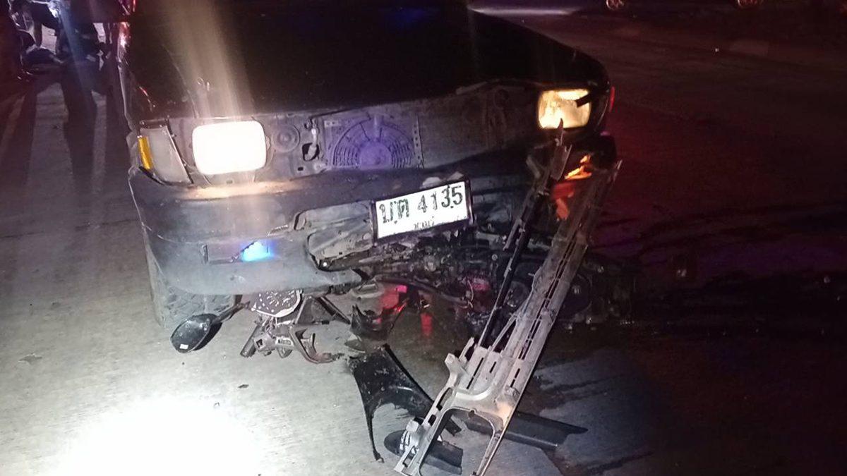 เด็ก 13 ขับมอ'ไซค์ ฝ่าไฟแดง หนุ่มซิ่งกระบะมาไม่ทันเห็น ชนเสียชีวิต