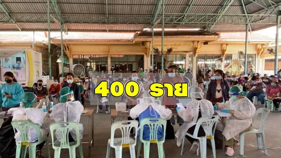 รพ.สนาม 'วัดช่องลม' ตรวจโควิดเชิงรุกชาวสมุทรสาครอีก 400 ราย วัดช่วยหนุนอาหาร-น้ำดื่ม