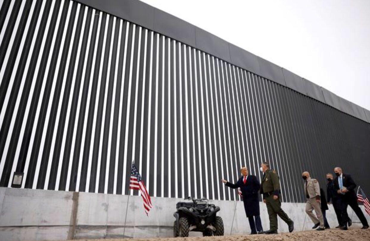 ไบเดนสั่งเลิกนโยบายสร้างกำแพงกั้นชายแดนเม็กซิโกทรัมป์