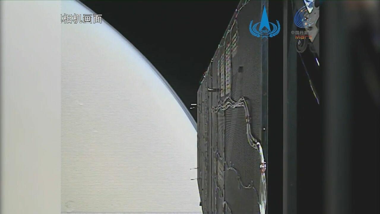 จีนเผยวิดีโอขณะ 'ยานอวกาศเทียนเวิ่น-1' เข้าสู่วงโคจรดาวอังคาร