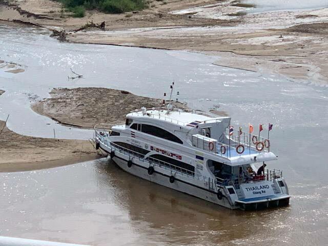 น้ำโขงเพิ่มระดับขึ้นแต่ยังไม่ถึง 2 เมตร เจ้าท่าเตือนระวังโขดหินและสันดอนทราย