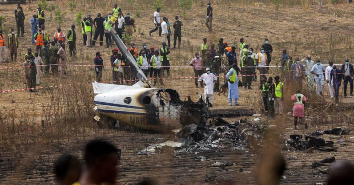 เครื่องบินกองทัพไนจีเรียตก ตายยกลำ 7 ศพ