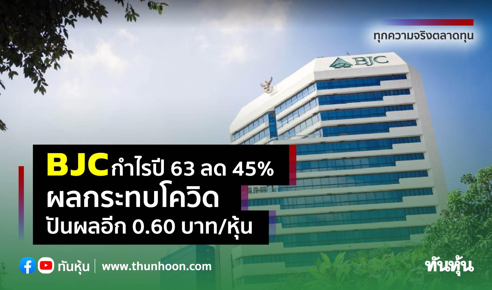 BJC กำไรปี 63 ลด 45% ผลกระทบโควิด, ปันผลอีก 0.60 บาท/หุ้น