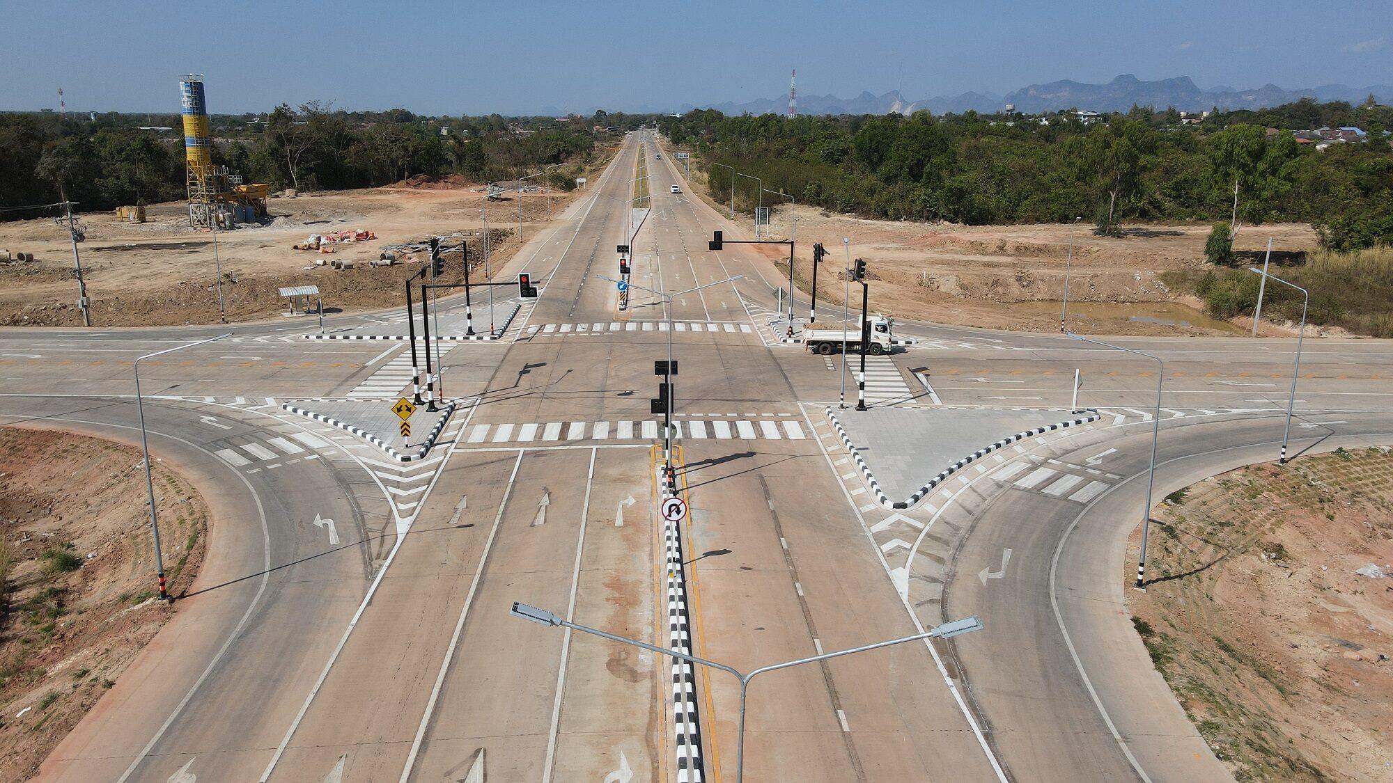 ทางหลวงชนบท เปิดใช้ถนนผังเมืองรวมนครพนม หนุนการขนส่ง ท่องเที่ยว เศรษฐกิจชายแดนไทย-ลาว