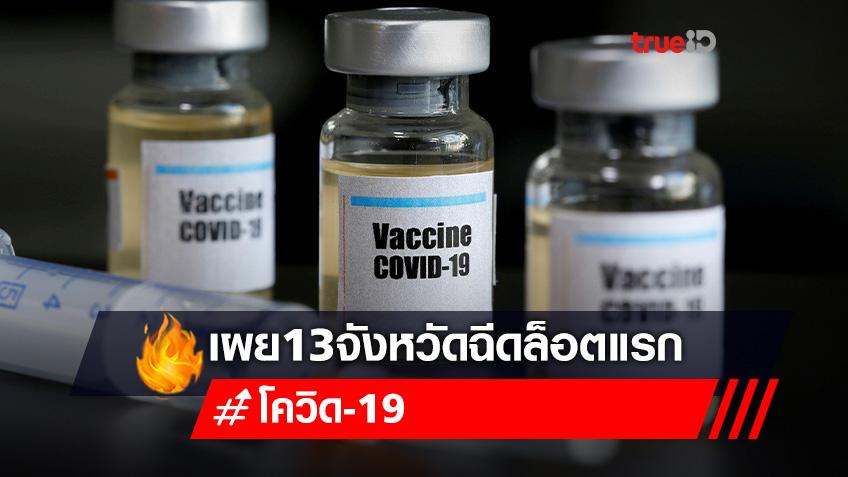 13 จังหวัดเฮ! ศบค.จัดโควต้าให้ ได้ฉีดวัคซีนล็อตแรก