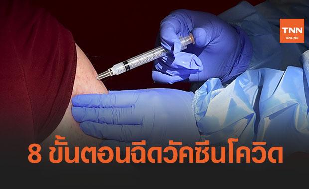 เปิด 8 ขั้นตอนฉีด 'วัคซีนโควิด' เพียง 5-7 นาที เสร็จเรียบร้อย