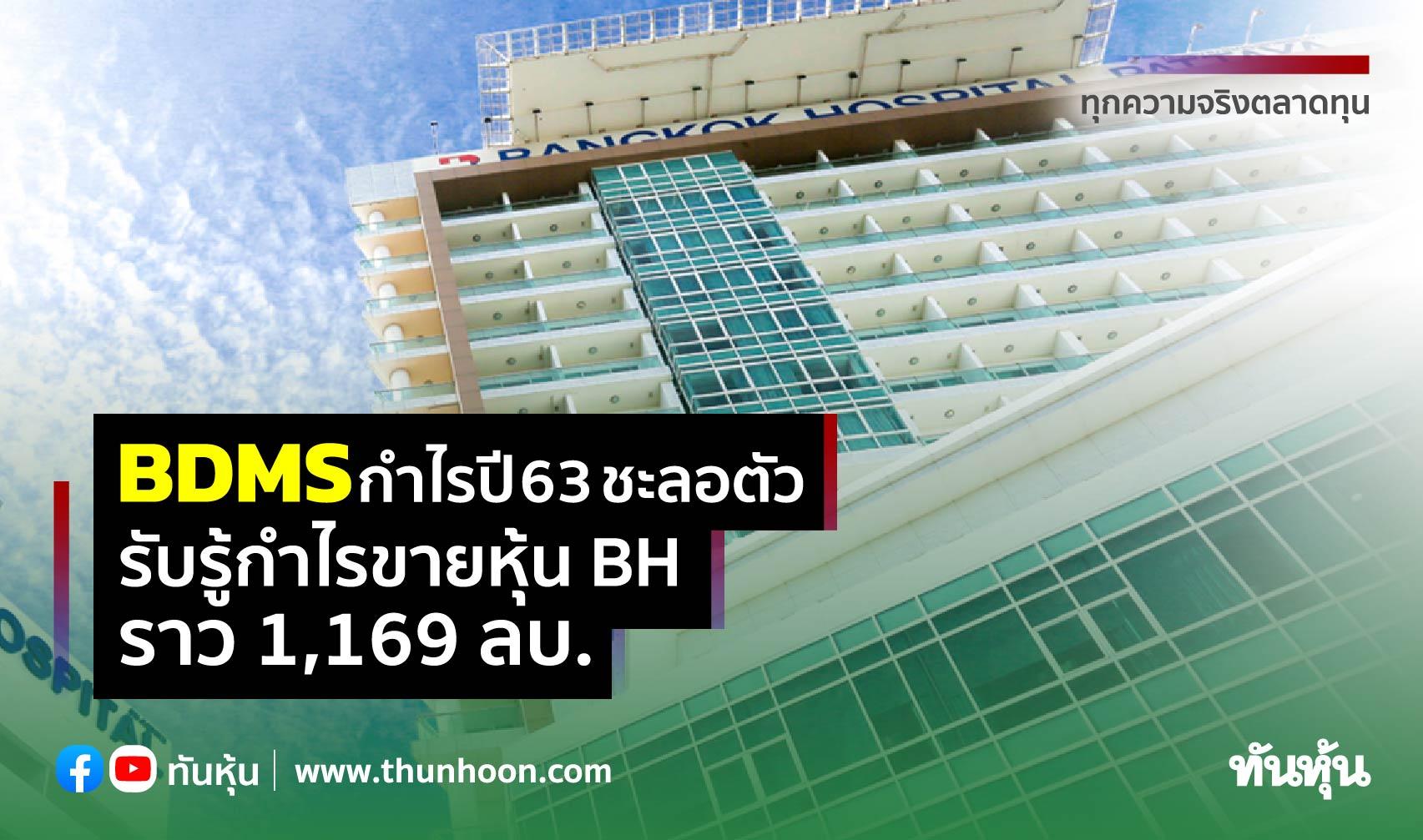 BDMS กำไรปี 63 ลดลง 54% ผลกระทบโควิด  บันทึกกำไรขาย BH ที่ 1,169 ลบ.