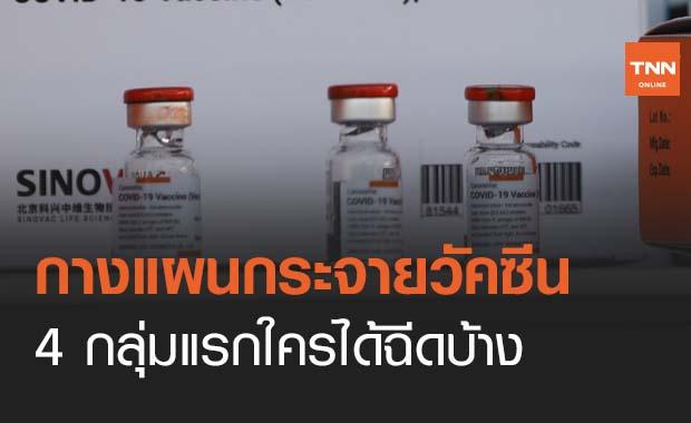 กางแผนกระจายวัคซีนโควิด 4 กลุ่มคือใครบ้างได้ฉีดล็อตแรก