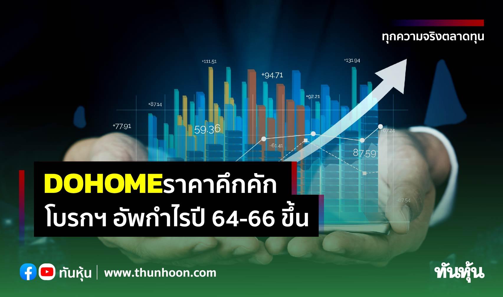 DOHOME  ราคาพุ่ง 12%  โบรกฯ อัพกำไรปี 64-66 ขึ้น แนะนำซื้อ