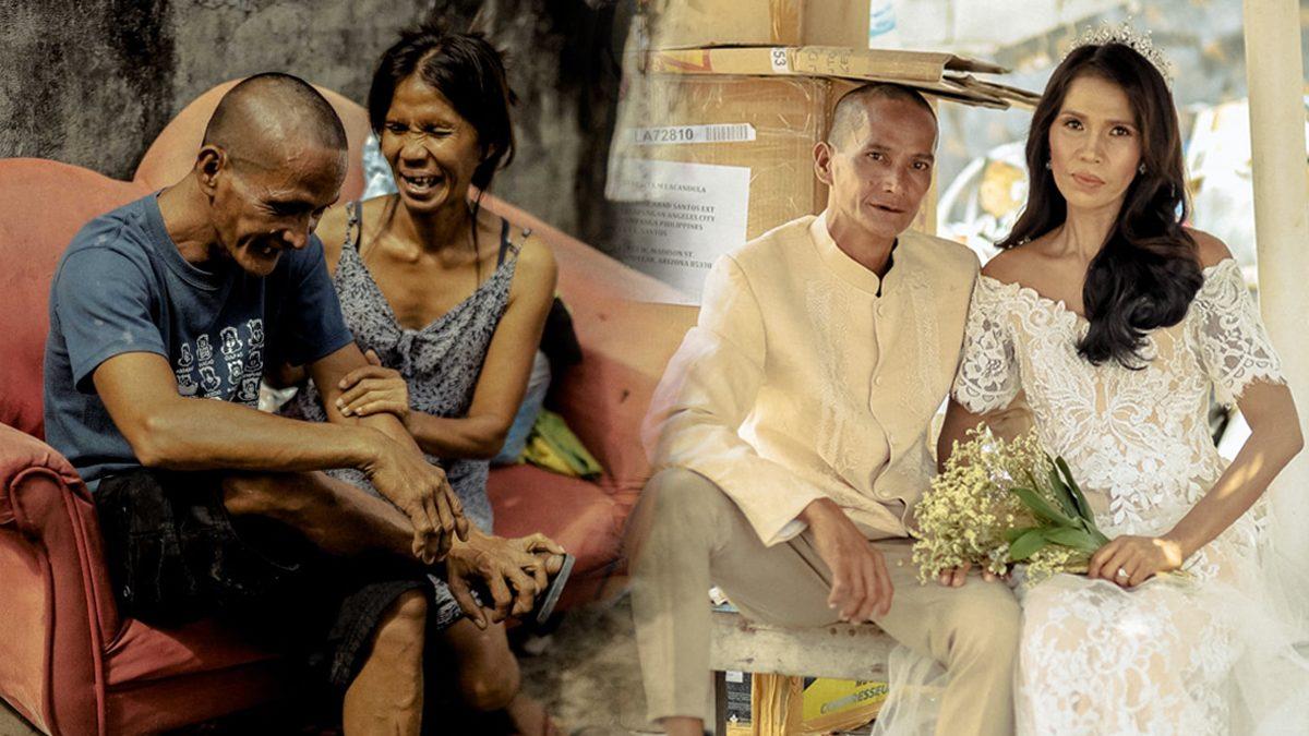 คู่รักคนไร้บ้าน ได้ 'งานแต่ง' เป็นของขวัญแก่ความรัก หลังร่วมทุกข์-สุข มากว่า 24 ปี