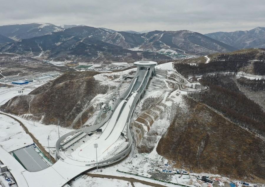 หิมะขาวแต้มสีสันสถานที่จัดโอลิมปิก ฤดูหนาว ปักกิ่ง 2022