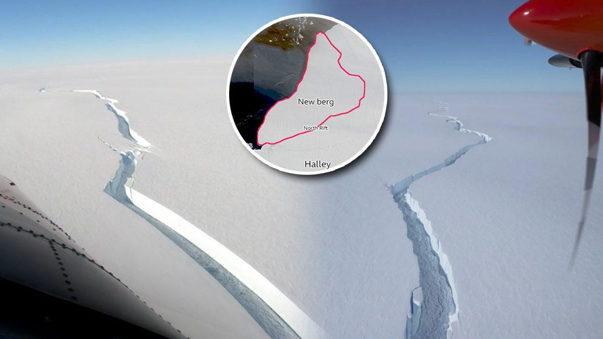 ภูเขาน้ำแข็งขนาดยักษ์ แตกจากหิ้งน้ำแข็ง ในแอนตาร์กติกา นักวิจัยชี้หาได้ยาก!