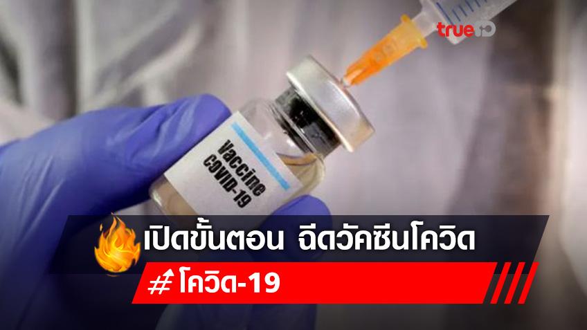 เปิดขั้นตอน ประชาชนทั่วไป ฉีดวัคซีน 'โควิด-19' ไม่ต้องขอ รอหมอติดต่อไปนัดเอง