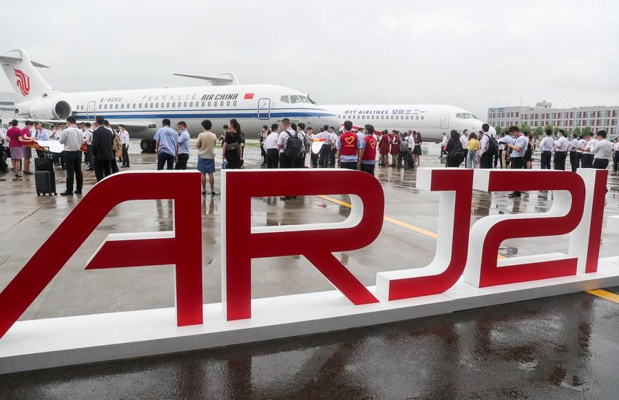 แอร์ไชน่ารับมอบ 'ARJ21' บินโดยสารฝีมือจีน ลำที่ 4
