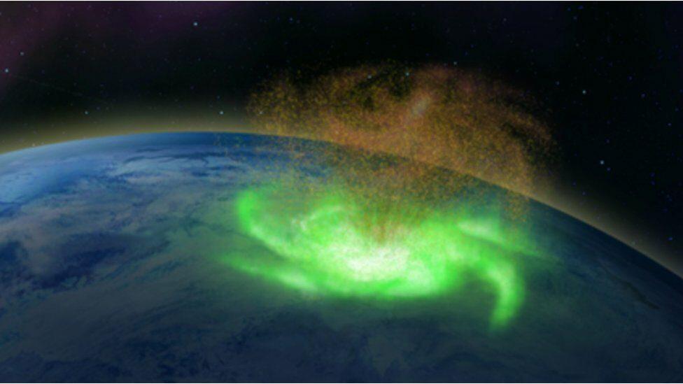 """ตรวจพบ """"เฮอริเคนอวกาศ"""" ครั้งแรก ชี้เป็นพายุพลาสมาพลังแรงเหนือชั้นบรรยากาศโลก"""