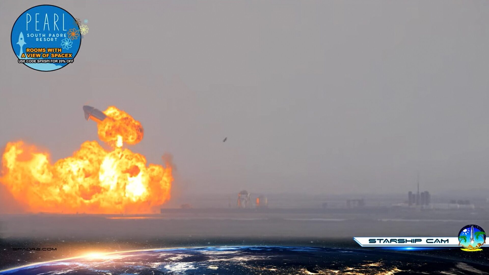จรวดสเปซเอ็กซ์ สตาร์ชิพ ระเบิดหลังลงจอดได้ไม่นาน