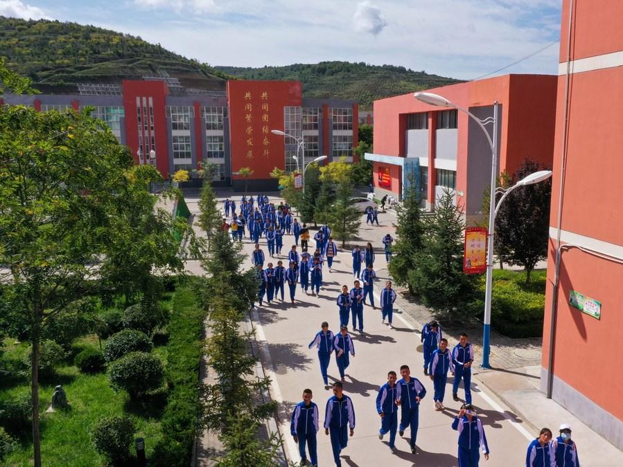 โรงเรียนชนบทหนิงเซี่ย พัฒนากีฬา เพิ่มคุณภาพชีวิตนักเรียน