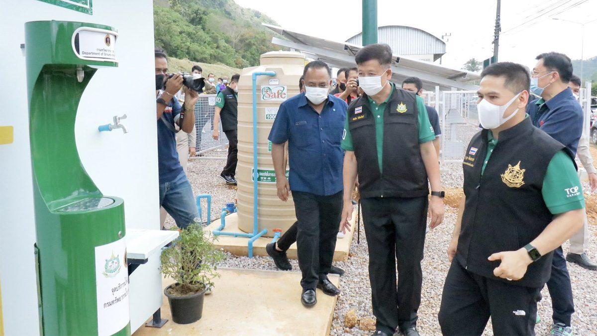 'วราวุธ' แก้ภัยแล้ง ส่งมอบสถานีจ่ายน้ำบาดาลบ้านต้นไทร ช่วยกว่า 2.4 พันครัวเรือน