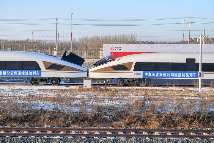 จีนทดสอบ 'รถไฟความเร็วสูง' รองรับ 'แรงชน' ครั้งแรก