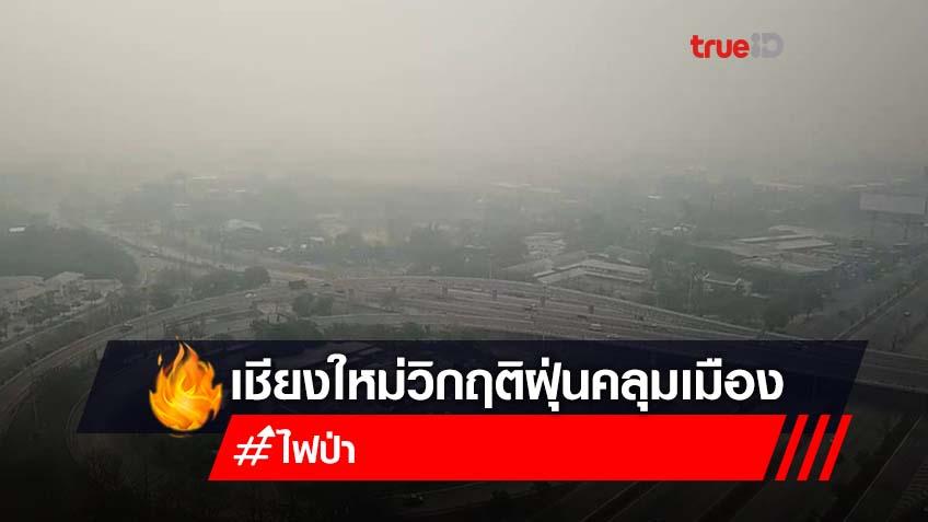 เชียงใหม่ วิกฤต! ฝุ่นควันคลุมเมืองหนาทึบ พบไฟไหม้ 2,000 จุด เตือนมีผลกระทบสุขภาพ