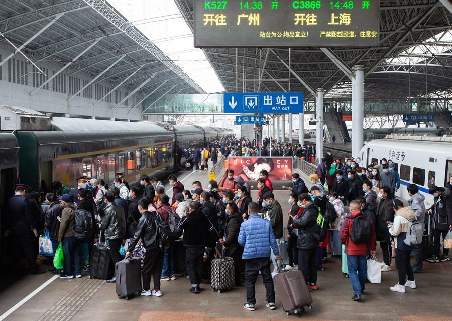 'สถานีรถไฟจีน' คึกคักส่งท้ายมหกรรมเดินทางตรุษจีน
