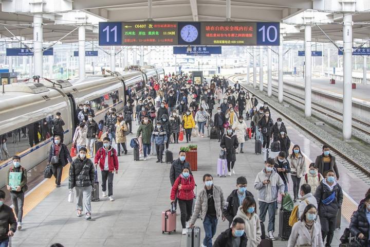 จีนเผยยอดโดยสาร มหกรรมเดินทาง 'ตรุษจีน' ร่วง 40.8%