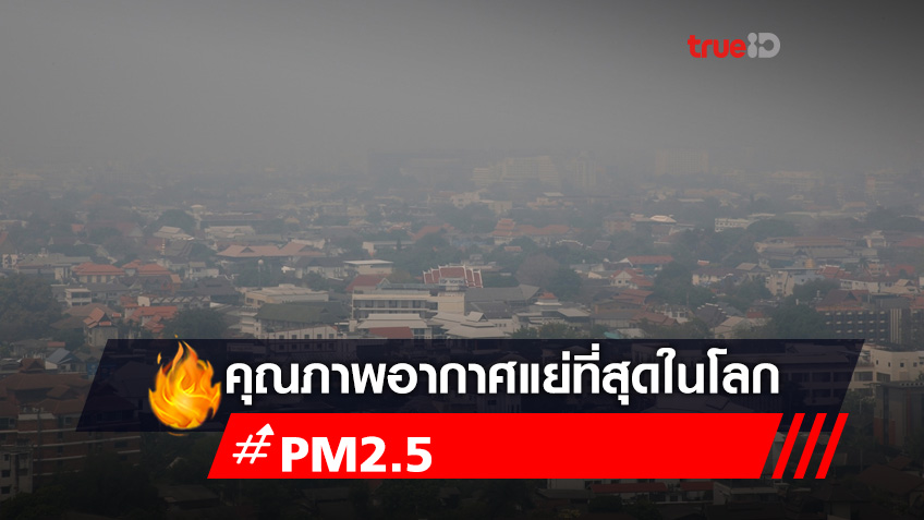 หมอกควันเชียงใหม่ยังวิกฤต อันดับ 1 เมืองคุณภาพอากาศแย่ที่สุดในโลก