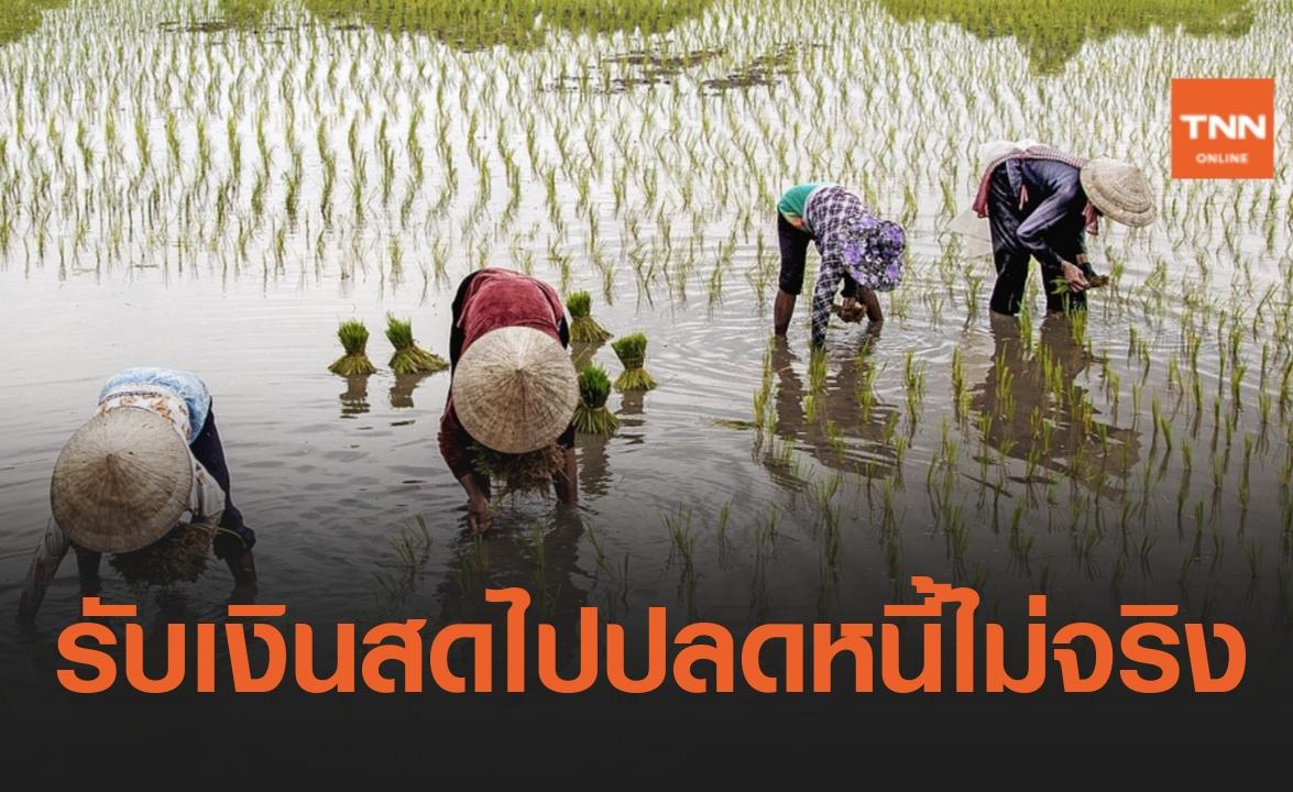 ข่าวปลอม อย่าแชร์ เกษตรกรที่ได้รับหนังสือแจ้งหนี้ ให้นำหนังสือไปธนาคารรัฐต้นสังกัด จะได้รับเงินสดปลดหนี้