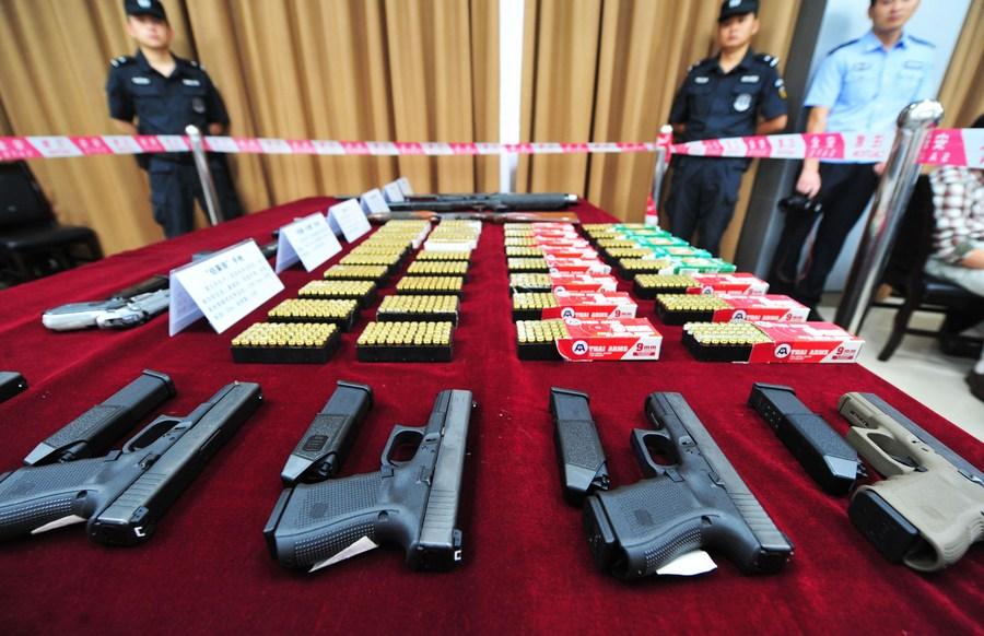 จีนเผยคดี 'ปืน-วัตถุระเบิด' ลดลงในปี 2020