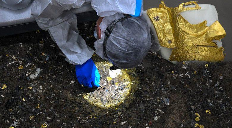 จีนพบหลุมบูชายัญ 3,000 ปี ตะลึงโบราณวัตถุอื้อ หน้ากากทองคำก็มี