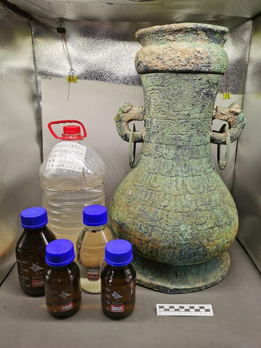 จีนพบ 'ไวน์ผลไม้' ในกาน้ำสัมฤทธิ์ยุคก่อนราชวงศ์ฉินครั้งแรก