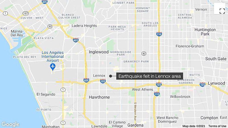 แผ่นดินไหวขนาด 4.0 เขย่าลอสแองเจลิส ชาวเมืองแจ้งกระแสไฟฟ้าดับ