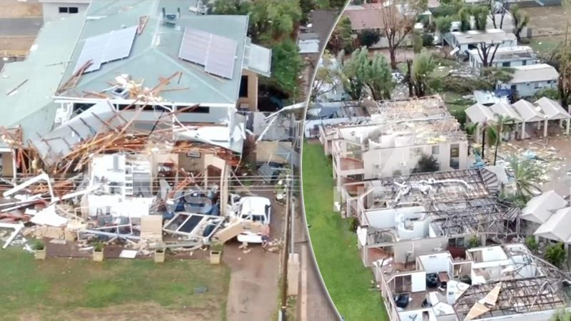 """""""พายุเซอโรจา"""" ถล่มออสซี่ ฝนกระหน่ำ-ลมพัดบ้านพังเป็นแถบ! (คลิป)"""