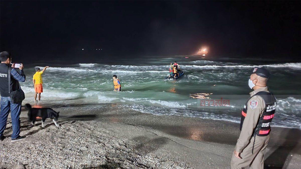 คลื่นทะเลขนอม ซัด 3 นักท่องเที่ยว กาญจนบุรี ด.ช.วัย 12 รอดคนเดียว