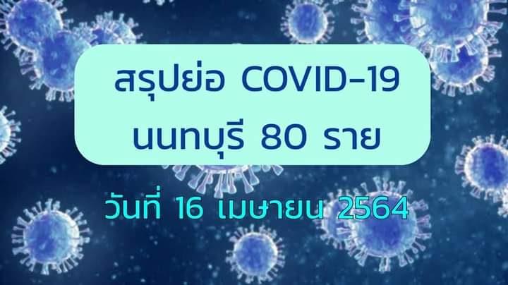 นนทบุรี หยุดไม่อยู่ติดโควิดอีก 80 ราย สะสมรอบใหม่ทะลุ 754 ราย